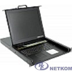 ProCase E1708 Консоль однорельсовая , КВМ 8 порт, LCD 17'', single rail console KVM 8 port, LCD D-Sub, USB, разрешение 1280*1024, 8 кабелей