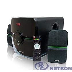 Dialog Progressive AP-203 BLACK {2.1, 18W+2*10W RMS, USB+SD reade}
