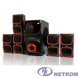 Dialog Progressive AP-555 BLACK {акустические колонки 5.1, 40W+5*12W RMS, USB+SD reader}