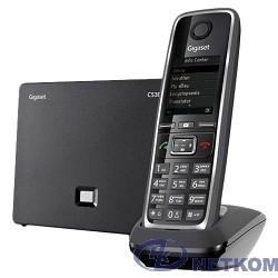 Gigaset [S30852-H2526-S301] C530A IP телефон, черный ( интернет-телефон с поддержкой фиксированной линии связи и автоответчиком)