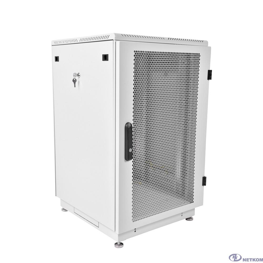 ЦМО Шкаф телекоммуникационный напольный 22U (600x1000) дверь перфорированная 2 шт. (ШТК-М-22.6.10-44АА) (3 коробки)