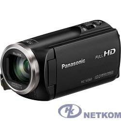"""Видеокамера Panasonic HC-V260 черный {2.7"""", 4224 x 2376, 2.2Mpx, 50x ZOOM, AVCHD Progressive, iFrame/MP4, SD, SDHC,SDXC}"""