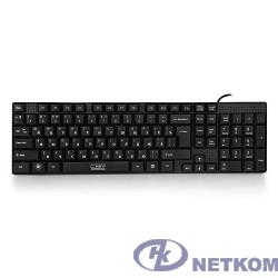 CBR KB 110 Black USB, Клавиатура офисн.,поверхность под карбон, переключение языка 1 кнопкой (софт)