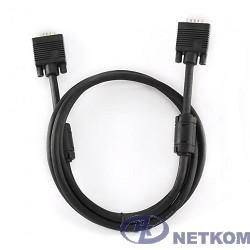 Gembird/Cablexpert CC-PPVGA-6B,  Кабель VGA Premium,15M/15M, 1.8м, тройн.экран, феррит.кольца, чёрный, пакет
