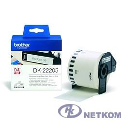 Brother DK22205 Лента бумажная клеящая белая 62мм (DK22205)