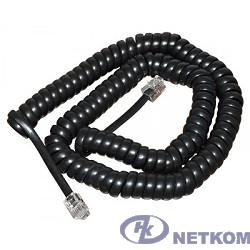 REXANT (18-2023) Шнур витой трубочный 2М телефонный черный