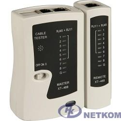 Telecom [6926123450055] LAN тестер  XT-468 для RJ-45, RJ-12  (LY-CT005)