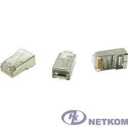 5bites US060A (US006A) Коннектор  RJ-45 8p8c, зол.напыление, экран. (1шт)