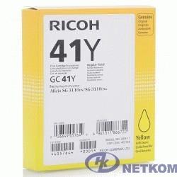 Ricoh Картридж GC41Y жёлтый Aficio 3110DN/DNw/SFNw/3100SNw/7100DN (2200стр) (405764)