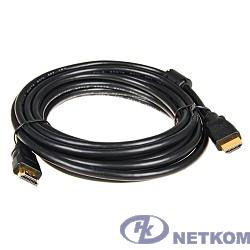 5bites APC-014-030 Кабель  HDMI M / HDMI M V1.4b, высокоскоростной, ethernet+3D, зол.разъемы, ферр.кольца, 3м.