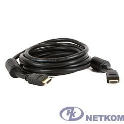 5bites APC-014-075 Кабель  HDMI M / HDMI M V1.4b, высокоскоростной, ethernet+3D, зол.разъемы, ферр.кольца, 7.5м.
