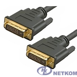 5bites APC-096-030 Кабель  DVI M / DVI M (24+1) double link, зол.разъемы, ферр.кольца, 3м.