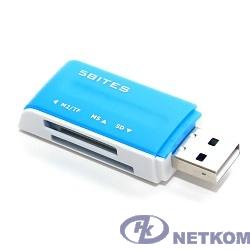 5bites RE2-102BL (RE-102BL) Устройство ч/з карт памяти  USB2.0 / ALL-IN-ONE / USB PLUG / BLUE