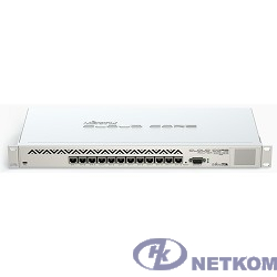 MikroTik CCR1016-12G Маршрутизатор (12) 10/100/1000 Mbit/s Gigabit Ethernet with Auto-MDI/X; Tilera Tile-Gx16; 2GB RAM; OS: L6(R2)