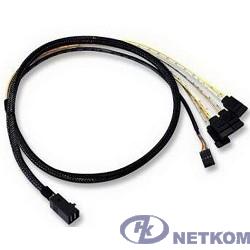 LSI (LSI00410) Logic Кабель Кабель MINI SAS HD internal cable SFF8643 to x4 SATA 0,6м