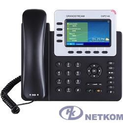 Grandstream GXP-2140, VoIP 2 Порта Ethernet 10/100/1000, 4 SIP линий, цветной TFT дисплей 48