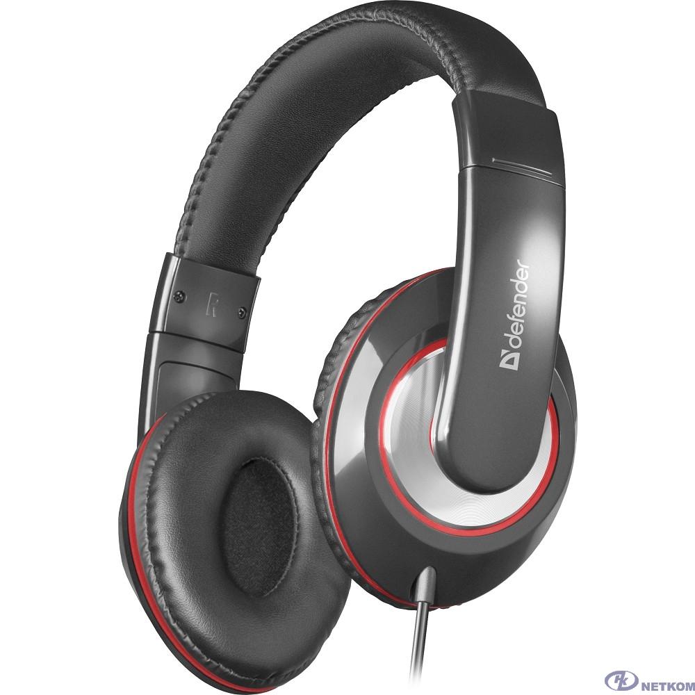 Defender Наушники с микрофоном Accord 171 черный, кабель 1,2 м [63171]
