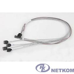 Supermicro CBL-SAST-0556 {internal mini SAS HD to 4 SATA, 90/90/75/75cm w/75cm SB, S. 30AWG}