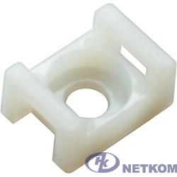 REXANT (07-2102) Площадка для крепления стяжки 22.2 х 16 мм (100 шт.) белая
