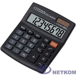 Калькулятор бухгалтерский Citizen SDC-805BN черный, {Калькулятор 8-разрядный}