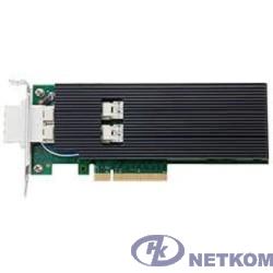 Контроллер 2-портовый Ethernet 10GbE CNA dual port Intel X520-SR2 (E10G42BFSRBLK), PCIe 2.0 x8, 2xSFP+ (w SR tranceivers), LP