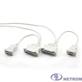 Нуль-модемный кабель RS-232 9/25pin F - 9/25pin F 1.8м Gembird [CC-140-6]