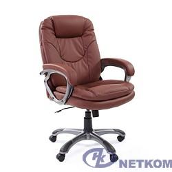 Офисное кресло Chairman  668  экопремиум коричневый,  (6082572/7007678)