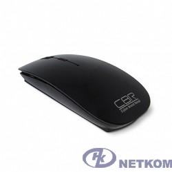 CBR CM 700 Black USB, Мышь 2,4 Ггц 800/1200/1600dpi, глянец, slim-корпус