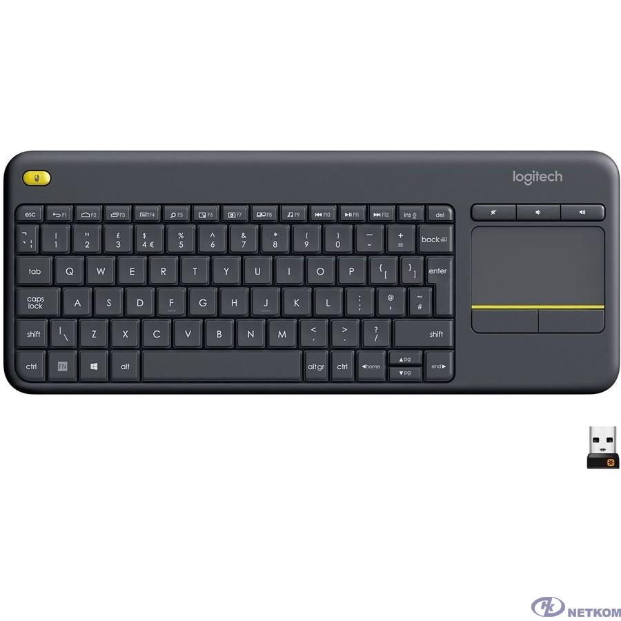 920-007147 Logitech Клавиатура K400 Wireless Touch Plus USB RTL