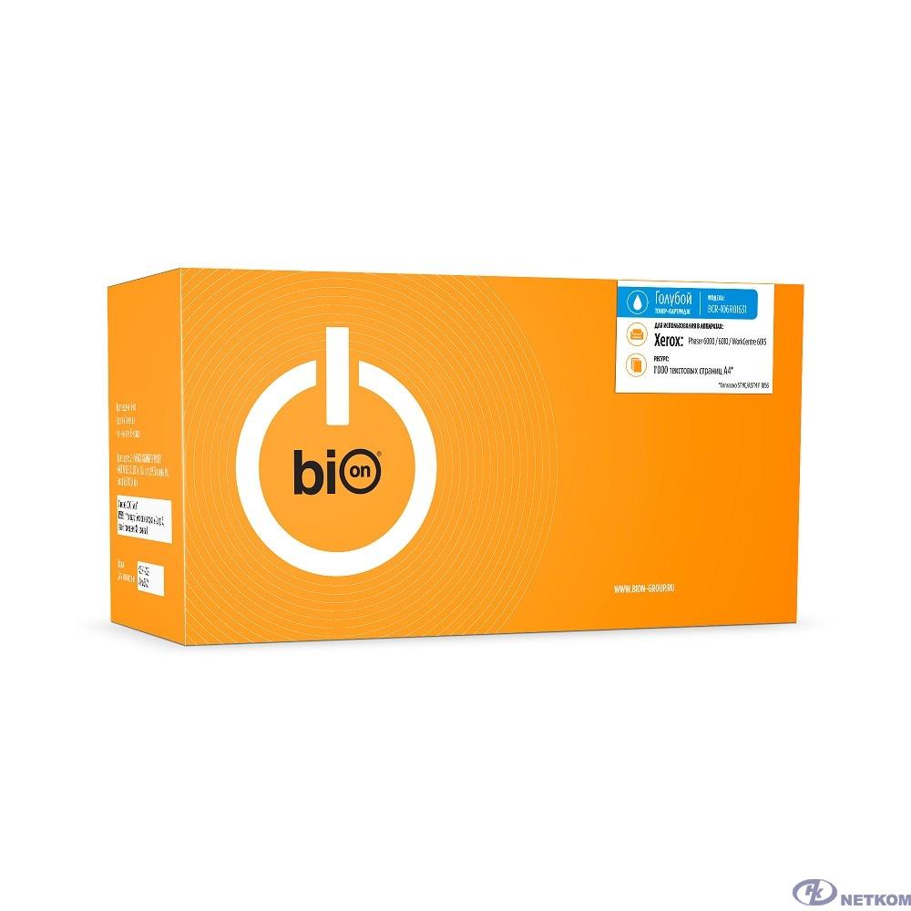 Bion 106R01631 Картридж для Xerox Phaser 6000/6010 WorkCentre 6015 (1 000 стр.) Голубой