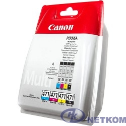 Canon CLI-471C/M/Y/Bk 0401C004 Картридж для PIXMA PIXMA MG5740/MG6840/MG7740, многоцветный