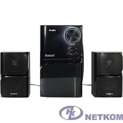 SVEN MS-305 черный { акуст. система 2.1, FM-тюнер, USB/SD, дисплей, ПДУ, Bluetooth, мощн. 20 Вт+2х10 Вт, чёрн}