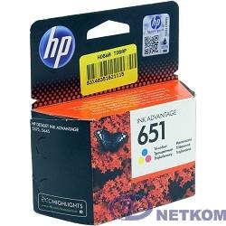HP C2P11AE Картридж №651, Color {Deskjet Ink Advantage 5645, 5575 (300стр.)}