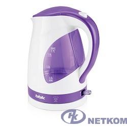 BBK EK1700P (W/V) Электрический чайник, белый/фиолетовый