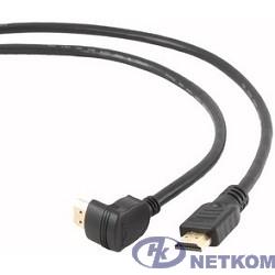 Bion Кабель HDMI [BXP-CC-HDMI490-018] 1.8м, v1.4, 19M/19M,  угловой разъем,черный, позол.раз., экран