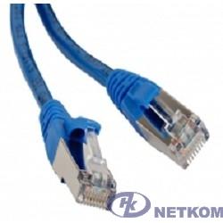 Hyperline PC-LPM-STP-RJ45-RJ45-C5e-1M-LSZH-BL Патч-корд F/UTP, экранированный, Cat.5е, LSZH, 1 м, синий