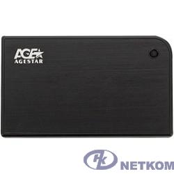 """AgeStar 3UB2A14 BLACK USB 3.0 Внешний корпус 2.5"""" SATA AgeStar 3UB2A14 (BLACK) USB3.0, алюминий, черный, безвинтовая конструкция [10604]"""