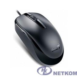 Genius Мышь DX-120 Black { оптическая, 1000 dpi, 3 кнопки+колесо прокрутки, провод 1,5 м, USB} [31010105100/31010010400]
