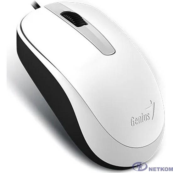 Genius Мышь DX-120 White { оптическая, 1000 dpi, 3 кнопки+колесо прокрутки, провод 1,5 м, USB} [31010105102/31010010401]
