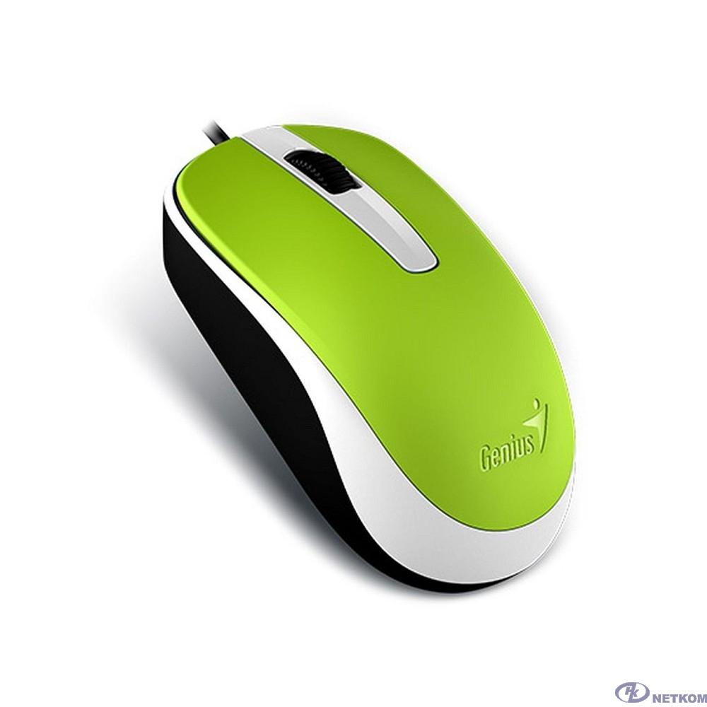 Genius Мышь DX-120 Green { оптическая, 1000 dpi, 3 кнопки+колесо прокрутки, провод 1,5 м, USB} [31010105105/31010010404]