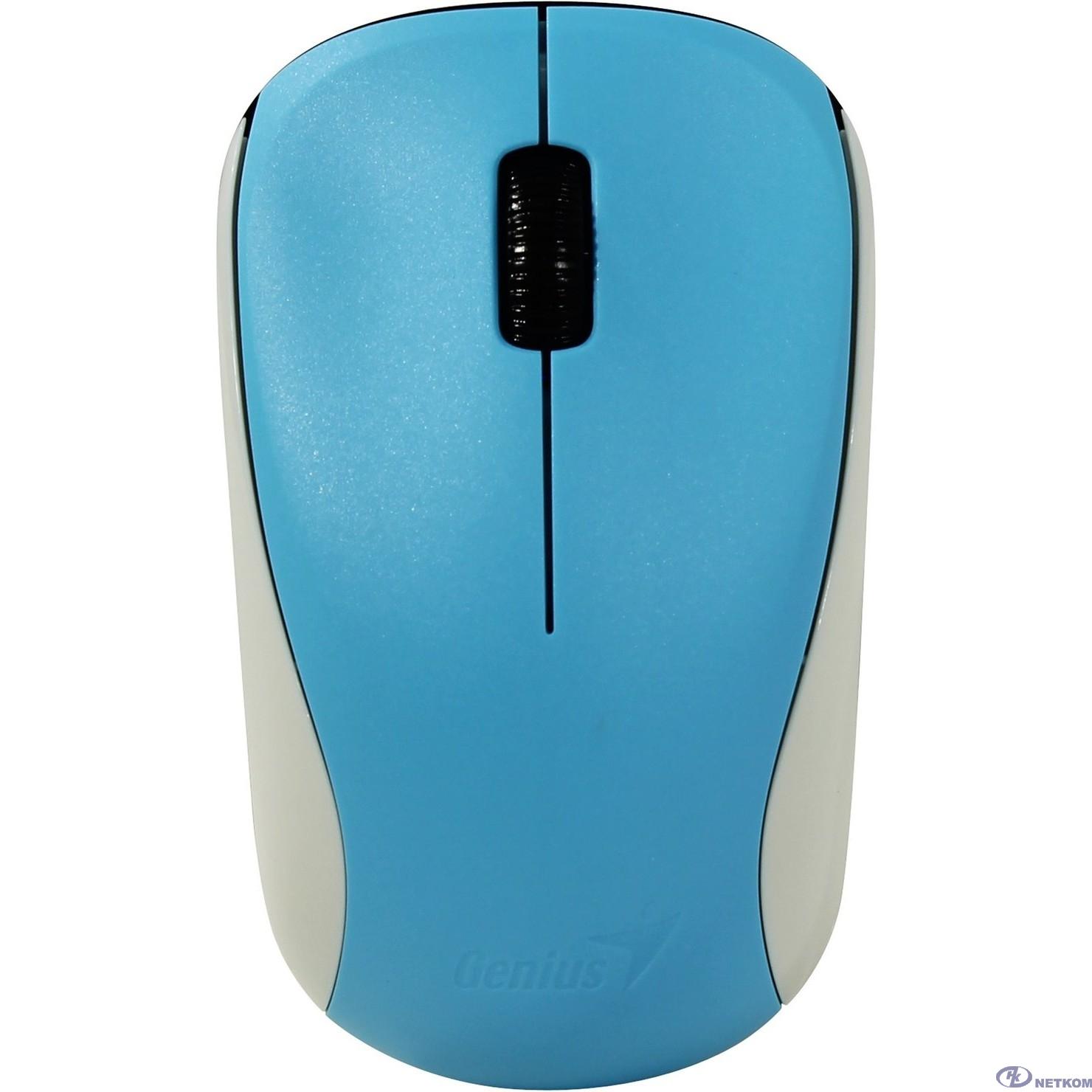 Genius Мышь NX-7000 Blue { оптическая, 1200 dpi, радио 2,4 Ггц, 1хАА, USB} [31030109109]