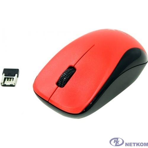 Genius Мышь NX-7000 Red { оптическая, 1200 dpi, радио 2,4 Ггц, 1хАА, USB} [31030109110]