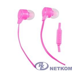 Perfeo наушники внутриканальные c микрофоном HANDY (розовые/красные) PF-HND-PNK