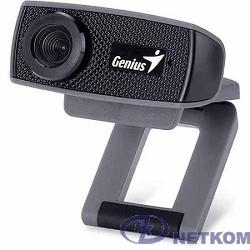 Web-камера Genius FaceCam 1000X Black {720p HD, универсальное крепление, микрофон, USB} [32200003400]
