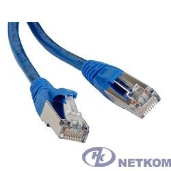 Hyperline PC-LPM-STP-RJ45-RJ45-C5e-0.5M-LSZH-BL Патч-корд F/UTP, экранированный, Cat.5e, LSZH, 0.5 м, синий