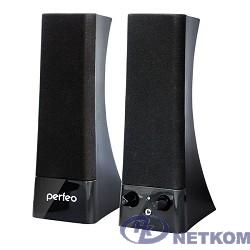 """Perfeo колонки """"Tower"""" 2.0, мощность 2х3 Вт (RMS), чёрн, USB  (PF-532) [PF_4325]"""