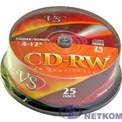 VS CD-RW 80 4-12x CB/25