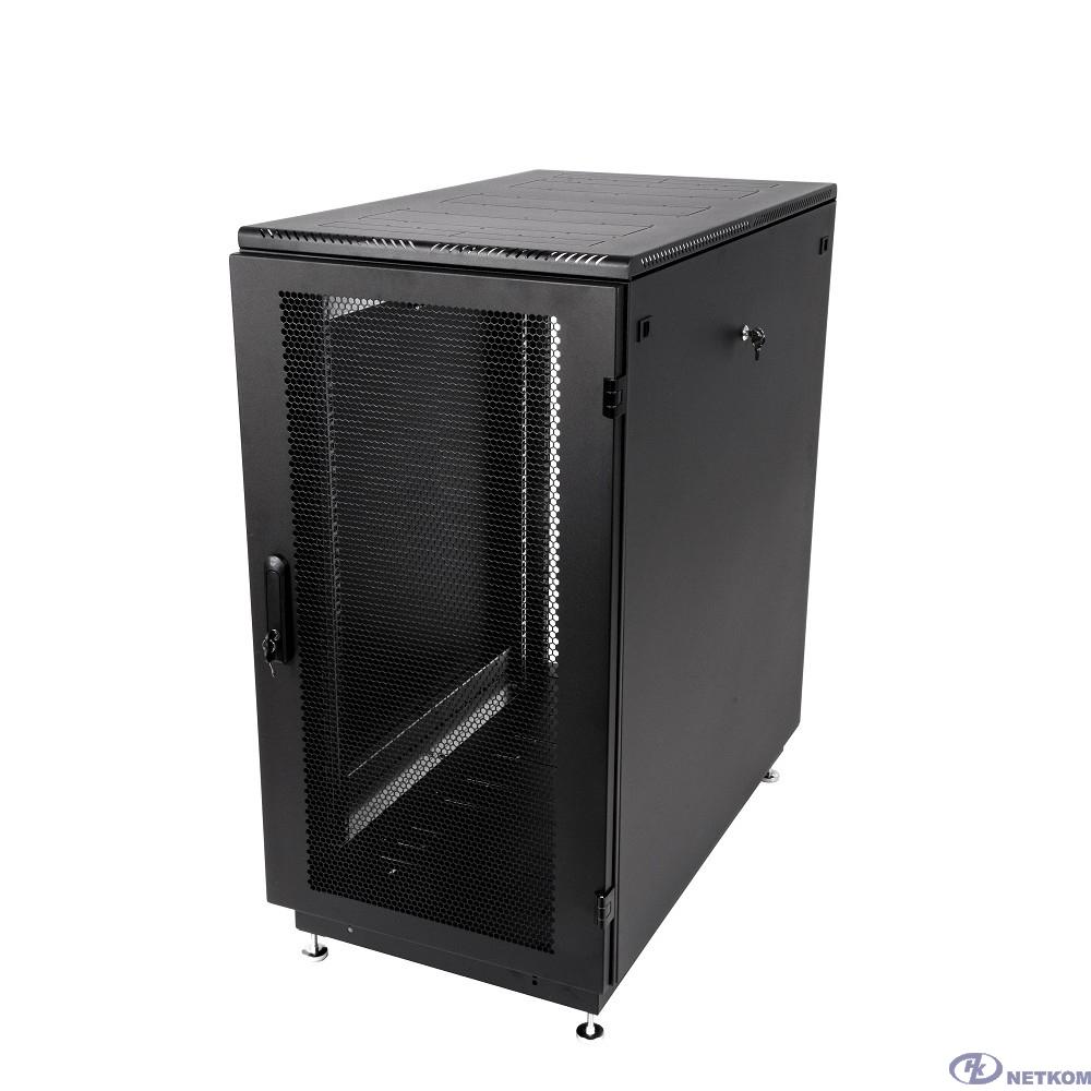 ЦМО Шкаф телекоммуникационный напольный 27U (600x1000) дверь перфорированная 2 шт., цвет чёрный (ШТК-М-27.6.10-44АА-9005)