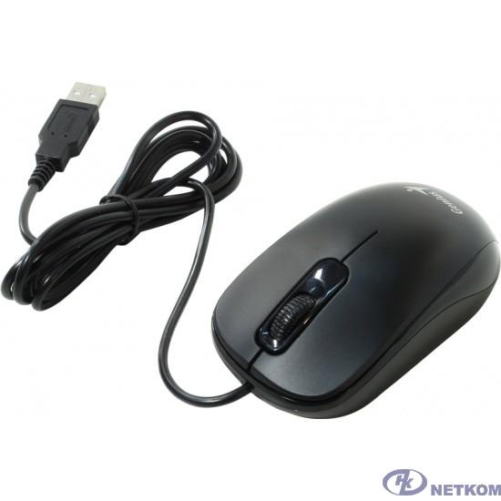 Genius Мышь DX-110 USB Black { оптическая, 1000 dpi, 3 кнопки+колесо прокрутки, провод 1,5 м } [31010116100]