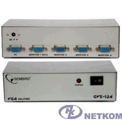 Gembird GVS124  Разветвитель сигнала VGA на 4 монитора (Gembird/Cablexpert)